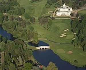 Aerial view of the mansion house and Repton Bridge (Wikipedia)