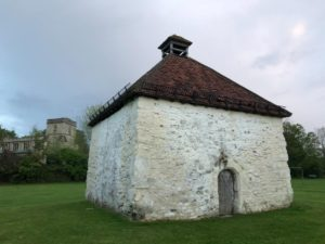 The Dovecot with St Dunstan's Church in background JM